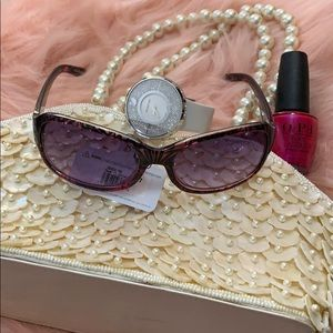 NEW Boutique! Brown & Pink Foster Grant Sunglasses